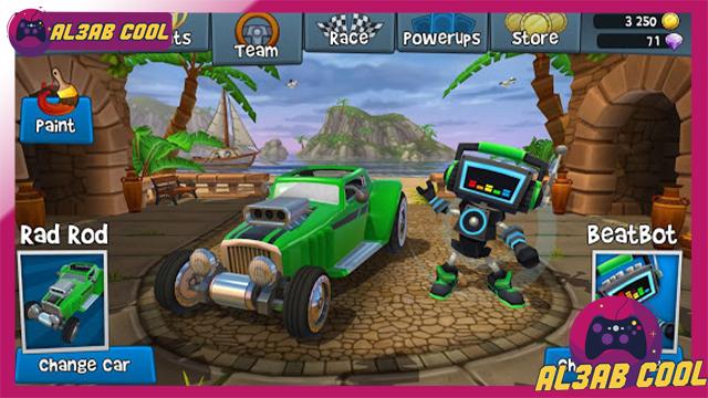 تحميل لعبة Beach Buggy Racing 2 MOD للأندرويد من الميديا فاير
