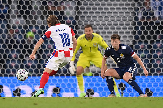 Luka Modric scores screamer during Croatia 3-1 win vs Scotland - Euro 2020