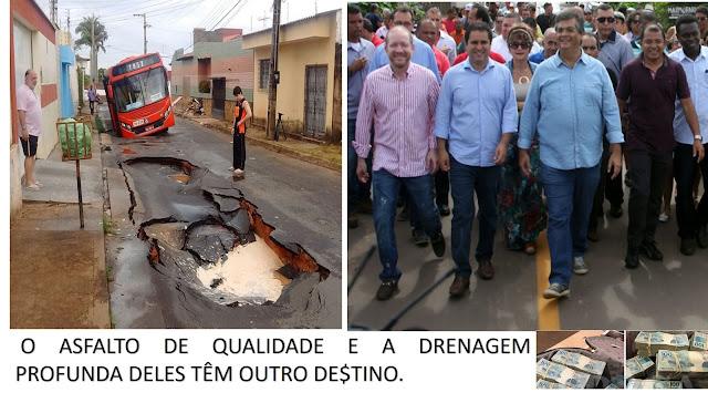 O esquema do asfalto em São Luís já torrou R$ 16 milhões em poucos meses
