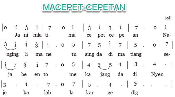 Lagu MACEPET-CEPETAN