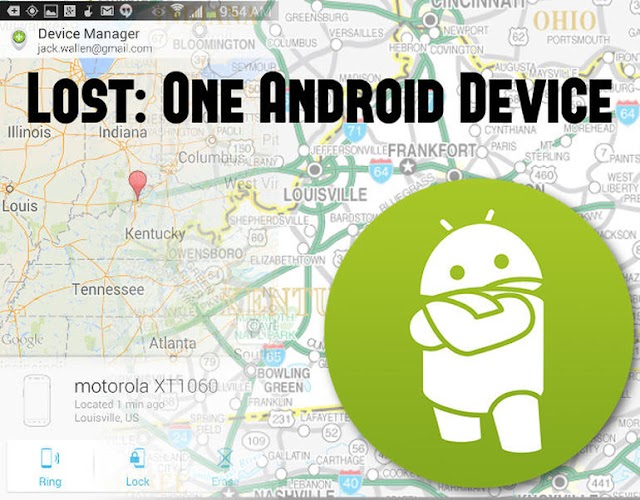 Ring, lock, or erase your lost or stolen Android device