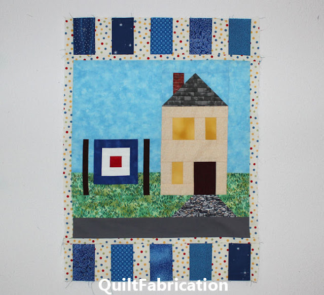 piano key quilt border