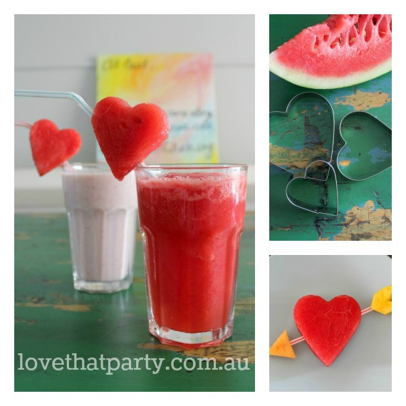 Valentine's Day Breakfast Ideas Smoothies  @ Love That Party