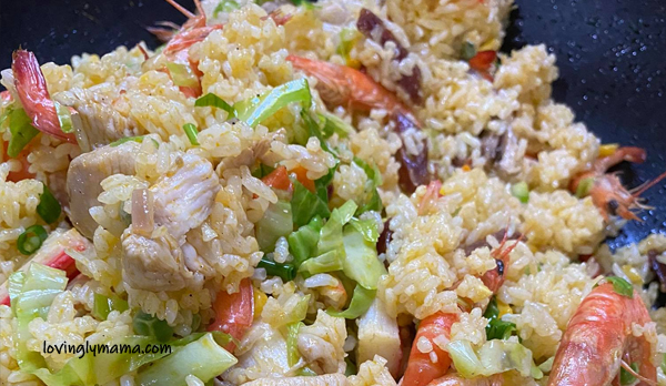 seafood rice, seafood rice recipe, fried rice, family gatherings, birthday party, Sunday lunch, weekend lunch, seafood recipe, fried rice variant, homecooking, from my kitchen, kitchen experiment, original recipe, husband, party, fiesta food, Philippines, Pinoy dish, anato oil, achuete