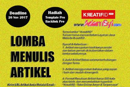 Lomba Menulis Artikel - KreatifID.com