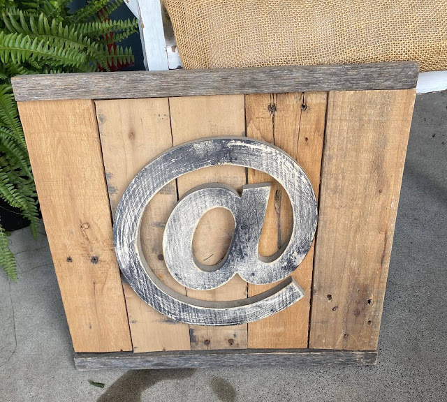 Goodwill Pallet Sign Upcycled As A Garden Tools Sign for the Shed