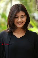 Actress Hebah Patel Stills in Black Mini Dress at Angel Movie Teaser Launch  0133.JPG