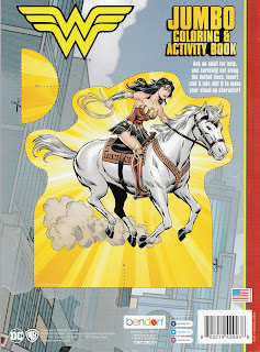 Back cover of Wonder Woman Jumbo Coloring & Activity Book 2020