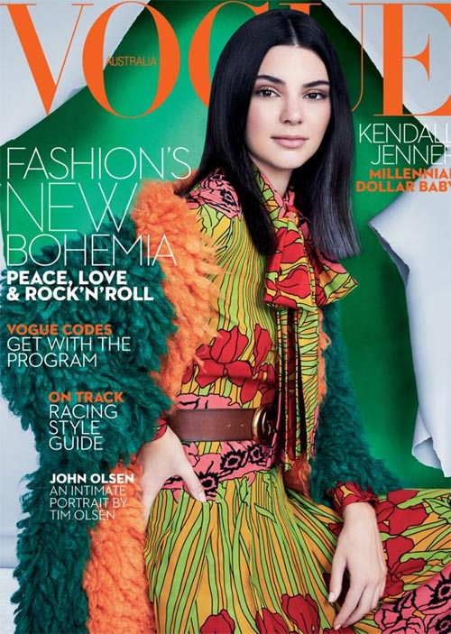 Kendall Jenner covers Vogue Australia Magazine