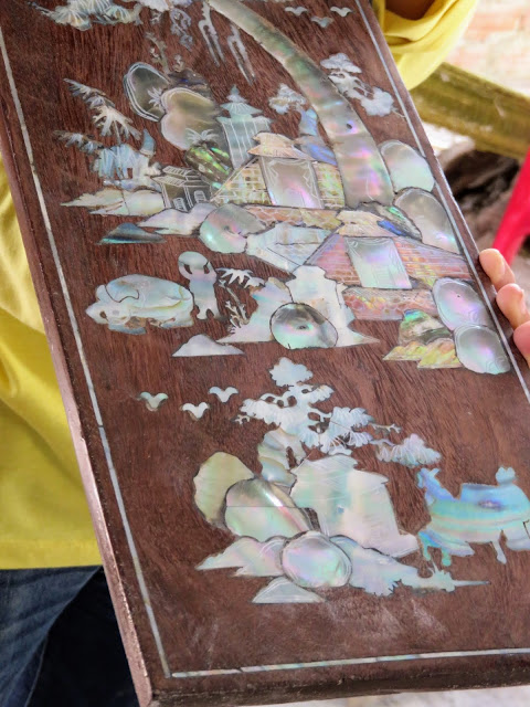 Mother-of-pearl inlay near Hoi An Vietnam