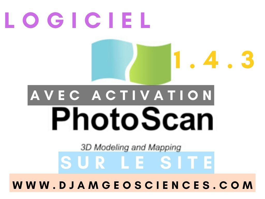 TÉLÉCHARGER LE LOGICIEL PHOTOSCAN PRO AGISOFT 1.4.3 COMPLET+KEY GRATUIT