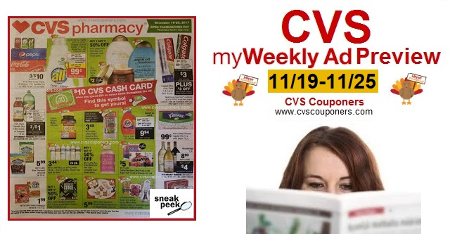 cvs couponers cvs weekly ad preview 11 19 11 25