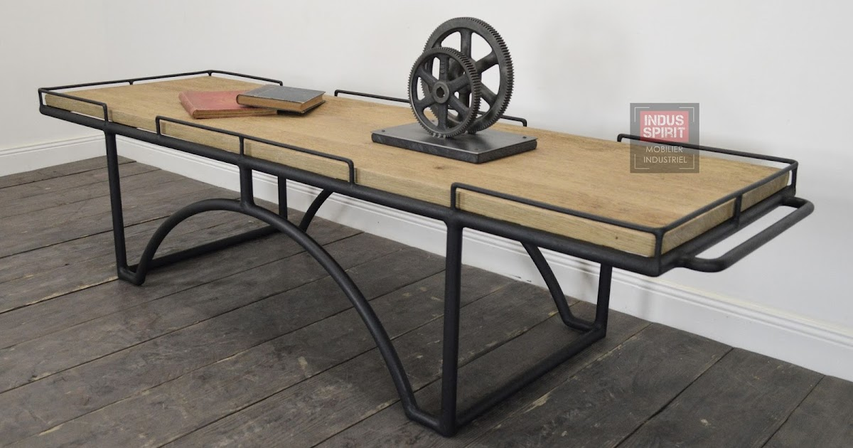 Table basse design industriel bois et m tal - Table basse style industriel ...