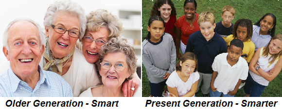 older generation and present generation as smart and smarter comparitively www.anthropologist.co.in k n reddy