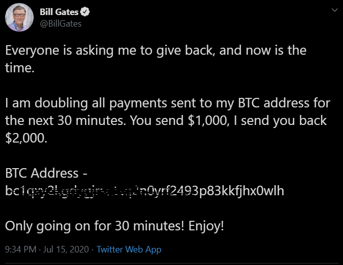 hacking twitter bill gates