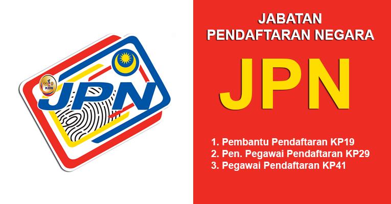 Jawatan Terbuka Jabatan Pendaftaran Negara JPN