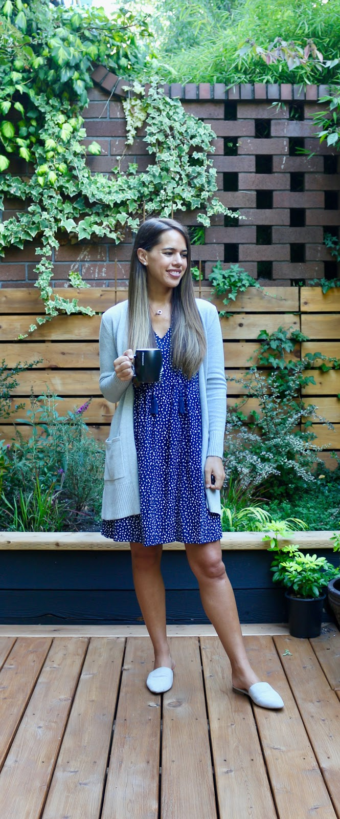 Jules in Flats - Sleeveless Tie Neck Swing Dress (Business Casual Workwear on a Budget)