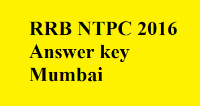 RRB NTPC Answer key Mumbai