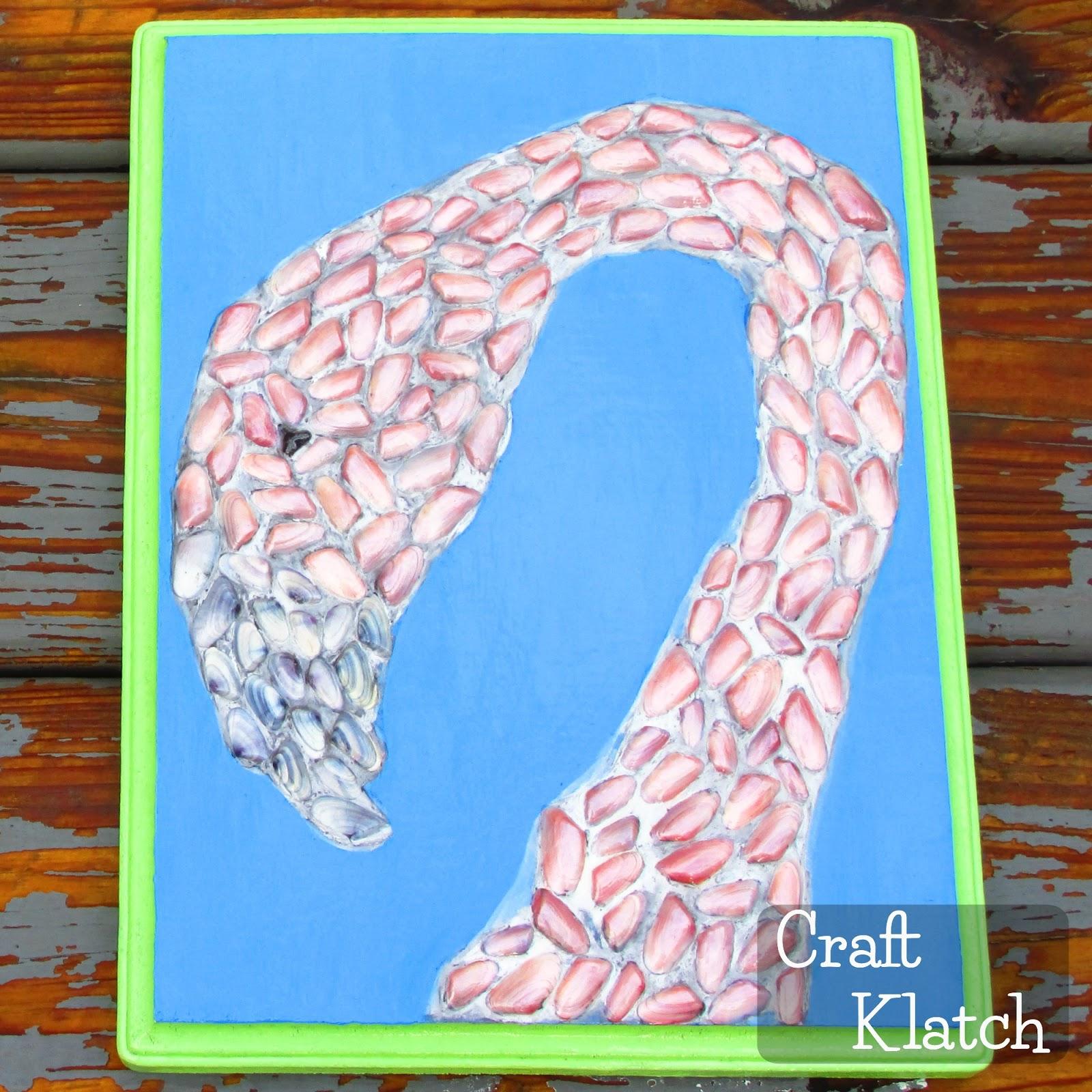 Craft klatch for Seashell mosaic art