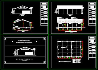 Gambar Kerja Pabrik Dwg Lengkap Dengan RAB Dan Perhitungan Struktur