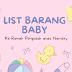 Barang Baby Ke Rumah Pengasuh/Nursery