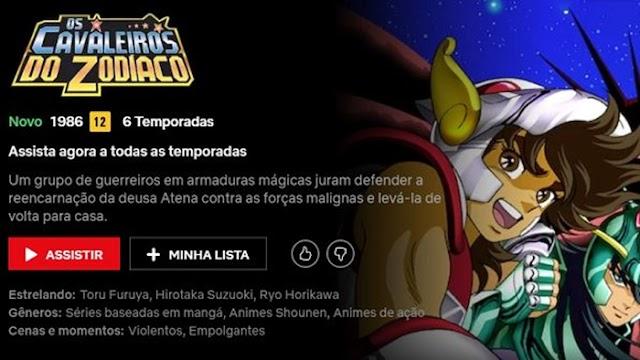 Netflix disponibiliza a serie original dos Cavaleiros do Zodiaco