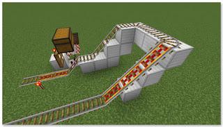 Minecraft トロッコ輸送 積み込み駅 複線 作り方③