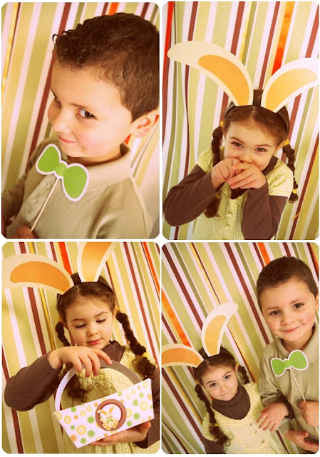 Easter Bunny Party: A Full-On Chocolate Desserts Table Games and DIY Photo Booth