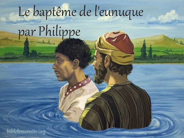 Le baptême de l'eunuque éthiopien par Philippe