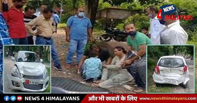 हिमाचल: चलती गाड़ी में ड्राइवर का BP हुआ हाई, बेकाबू हो दूसरी से टकराई- भागे लोग