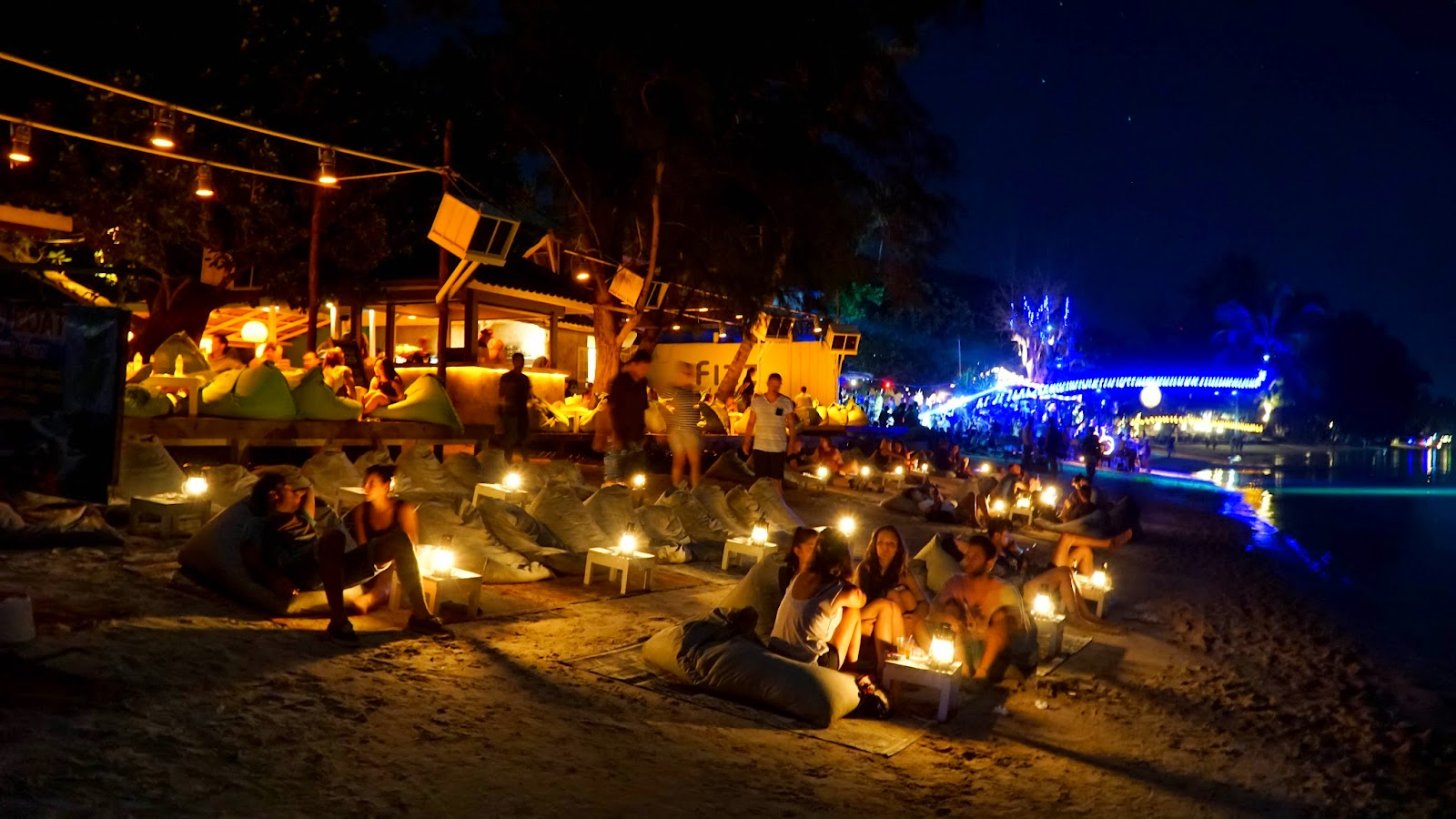 The night scene in Sairee Beach is exciting and plenty enough to keep you entertained throughout the night