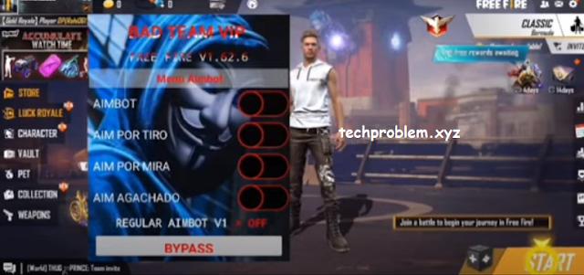 Free Fire Mod Menu BAD TEAM VIP V3 Aimbot Headshot Wallhack Anti Blacklist