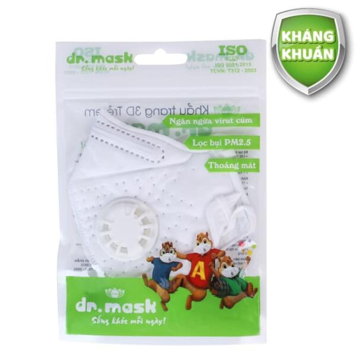 Gói 1 Chiếc Khẩu Trang Trẻ Em 3DKIDS - Dr.Mask - 100 gói/thùng
