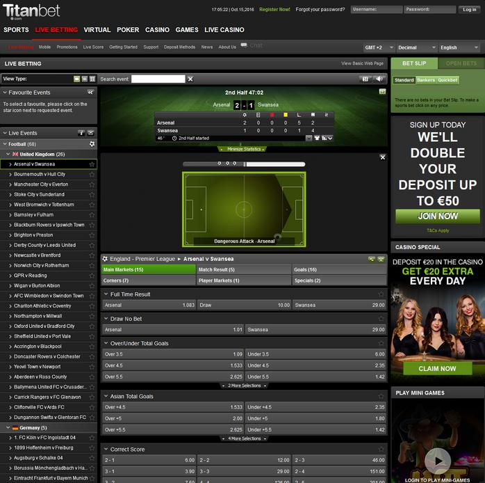 Titanbet Screen