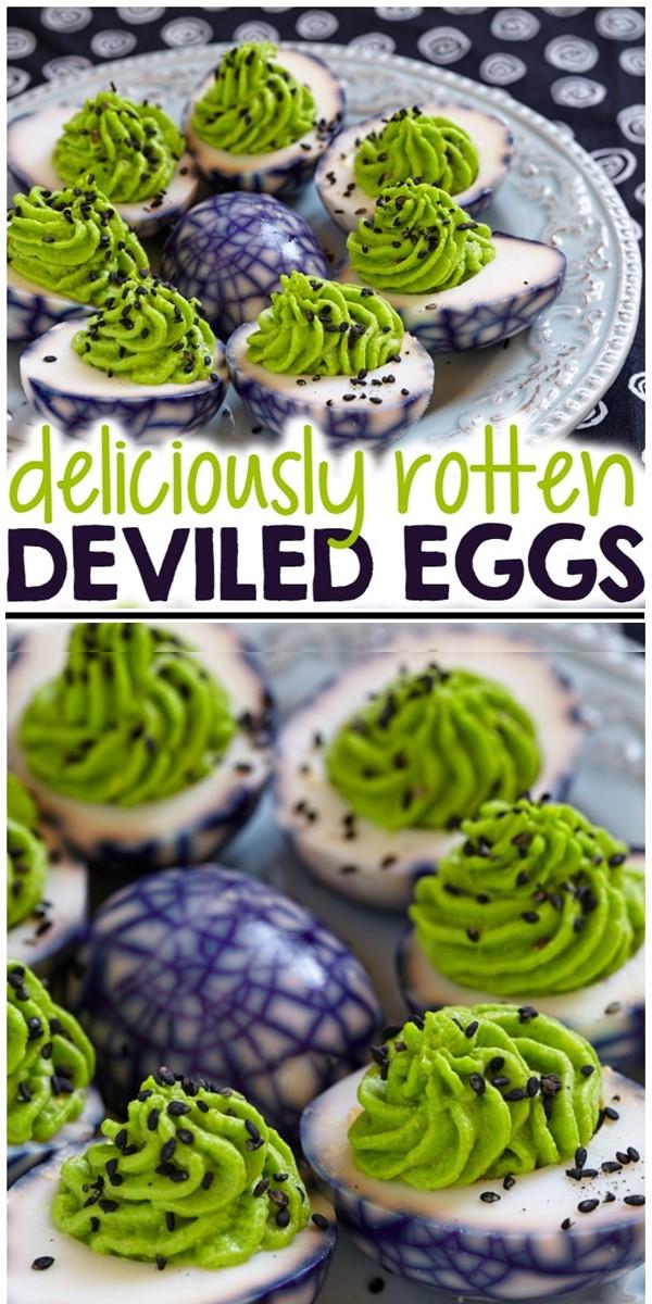 Halloween Deviled Eggs #halloweenrecipes