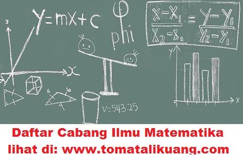 cabang ilmu matematika; www.tomatalikuang.com
