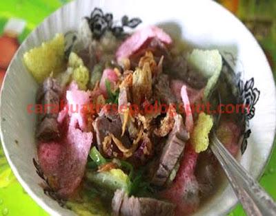 Foto Resep Soto Sokaraja Sroto Khas Purwokerto Sederhana Spesial Ketupat dan Sambal Kacang Pedas Asli Enak