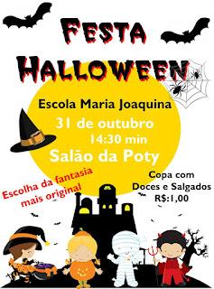 EDUCAÇÃO: Festa de Halloween na Escola Maria Joaquina de Menezes