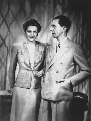 Fotografía del matrimonio Goebbels