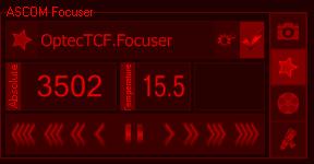 screen snapshot of Backyard EOS controlling a focuser