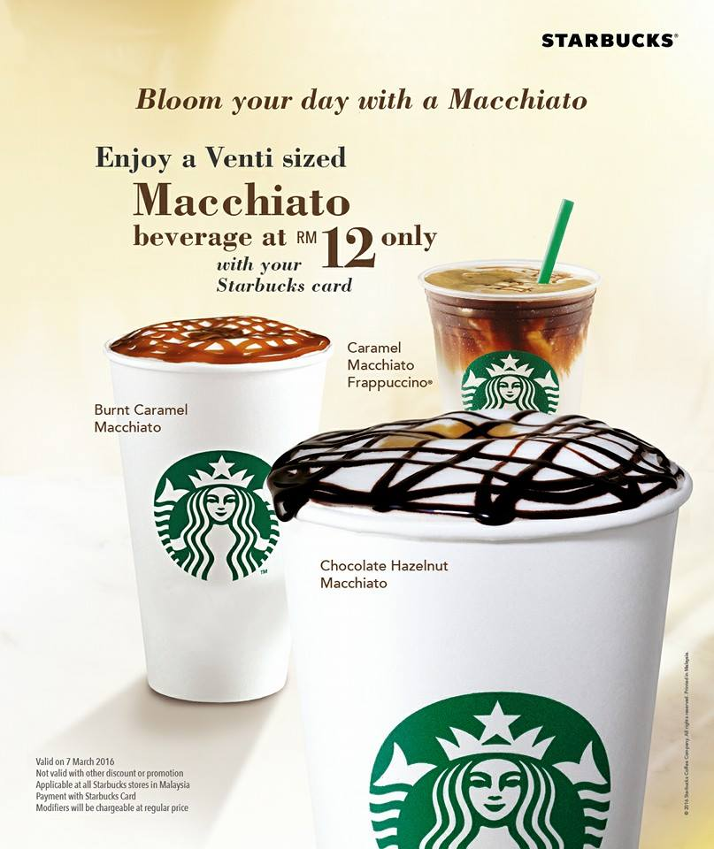 Starbucks Venti-sized Macchiato RM12 7 March 2016