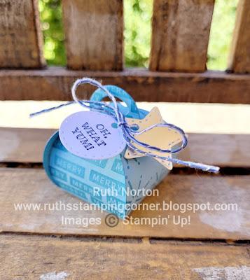 stampin' up, mini curvy keepsake box, peace and joy