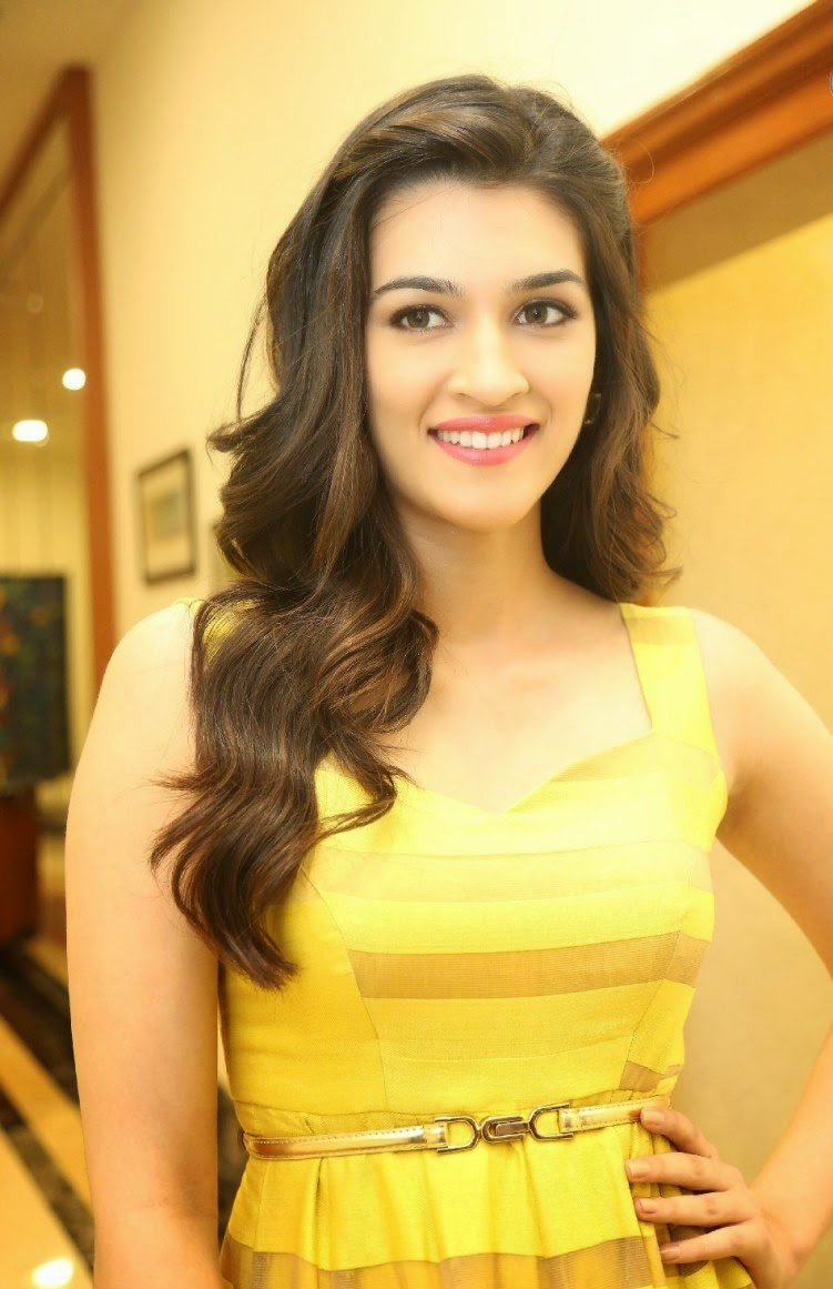 Kriti Sanon Stills in Yellow Dress
