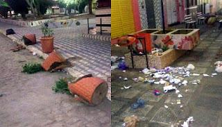 Vândalos promovem destruição durante a madrugada em Cuité