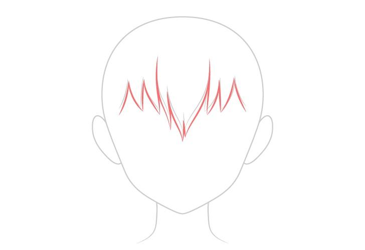 Gambar rambut basah vs kering anime depan