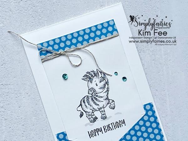 Simple Stamping Sunday,  Happy Birthday Zany Zebra!