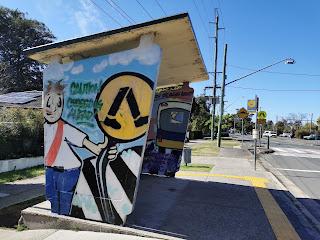 Blaxland painted bus shelter | LMNC & BMSAC