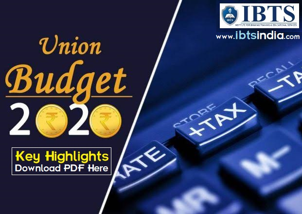 Highlights of Union Budget 2020-21 Download PDF Here
