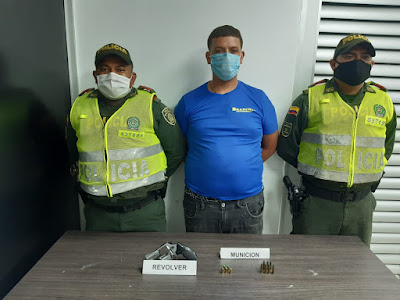 https://www.notasrosas.com/En Riohacha: lo capturan con revólver artesanal, cinco cartuchos para el mismo y siete, marca Cavim 357
