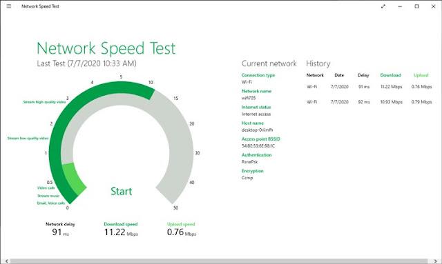 معرفة سرعة النت من الراوتر برنامج سبيد تيست speed test